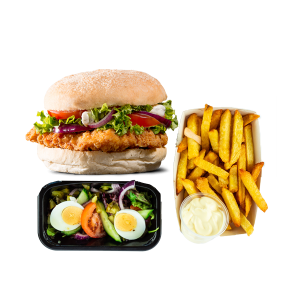 Krokante Kipburger Menu