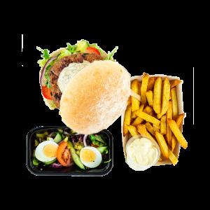 Vegetarische burger menu